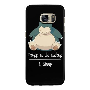 Things To Do Today Sleep Pokemon Snorlax Samsung Galaxy S7 Case