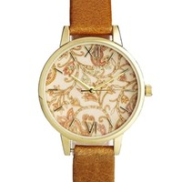 Olivia Burton Wonderland Paisley & Camel Watch - Brown
