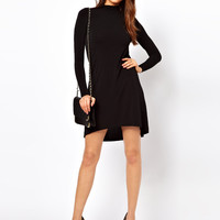 ASOS Shift Dress With High Low Hem