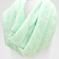 Moroccan Infinity Scarf Mint