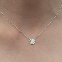 Moon Dot Sterling Silver Necklace