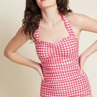 Bathing Beauty One-Piece Swimsuit in Cherry Pie
