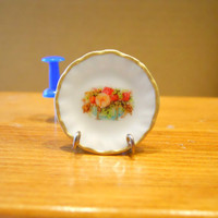 Shabby Flowers  Dollhouse Miniature Plate 1:12 Scale