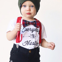 Christmas outfit, christmas bow tie, boys christmas outfit, holiday bow tie, babies first christmas, winter outfit [CHRISTMAS PLAID]