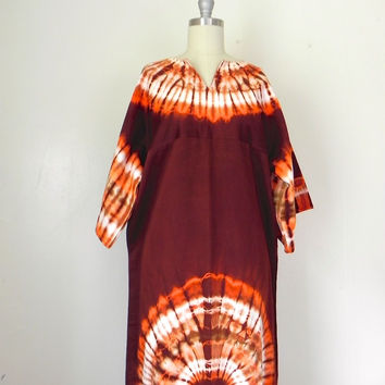 Tie Dye Hand Patterned Textile Long MultiColor /Dress