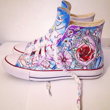 Custom Converse With Fantasy Wonderland Illustration