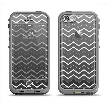 The Black Gradient Layered Chevron Apple iPhone 5c LifeProof Fre Case Skin Set