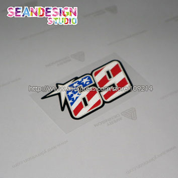 Hot sale Nicky Hayden 69 motogp D Helmet Motorcycle Motocross Motorbike Decal Sticker Waterproof 02
