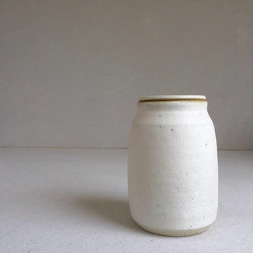 WHITE LIDDED BOTTLE 26 oz, ceramic, pottery, handmade, jar, liddedjar, liddedbottle, ceramic lidded jar, container, white bottle