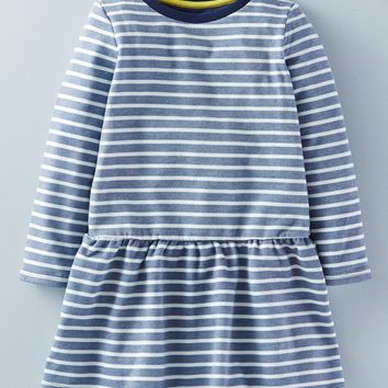 Mini Boden 'The Sweatshirt' Brushed Cotton Blend Dress (Toddler Girls, Little Girls & Big Girls) | Nordstrom