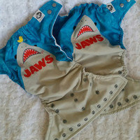 JAWS Shark All In One (AIO) Cloth Diaper - One-Size or Newborn, S, M, L