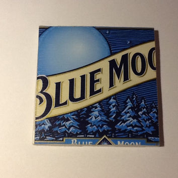 Beer Coaster: Blue Moon (pack of 4)