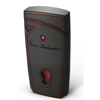 Tonino Lamborghini Magione Metallic Gray With Red Lines Torch Flame Cigar Lighter