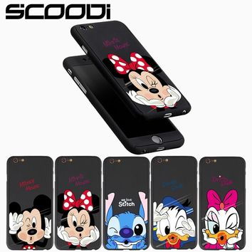 360 Degree Phone Case For iPhone 6 6s Plus 7 7 Plus Luxury Hard PC Full Protect Tempered Glass Cover for iPhone 8 8Plus 5 5s SE