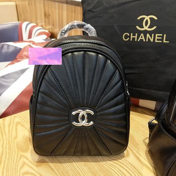 Trendsetter Chanel Casual Shoulder Bag School Backpack Travel Bag
