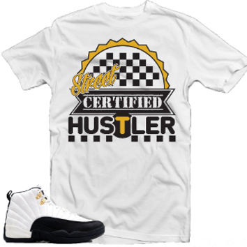 "Sneaker Tees : T-Shirt to match the Jordan Retro 12 ""Taxi"" Shoes"