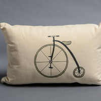 Decorative pillow,cotton pillow,canvas pillow,bicycle pillow black & white pillow