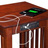 Atlantic Furniture Houlton End Table with Charging Station