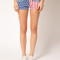 Hilfiger Denim American Flag Denim Shorts