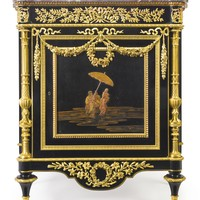 Paul-Charles Sormanib. 1848A Louis XVI style gilt-bronze mounted ebony and Japanese lacquer decorated cabinetParis, late 19th century, after the model by Martin Carlin | lot | Sotheby's