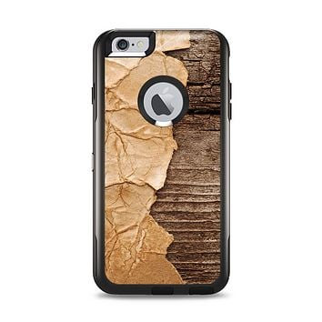 The Vintage Paper-Wrapped Wood Planks Apple iPhone 6 Plus Otterbox Commuter Case Skin Set