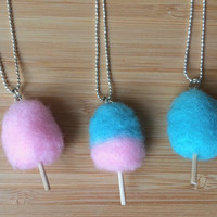 Cotton Candy Felt Wool Necklace