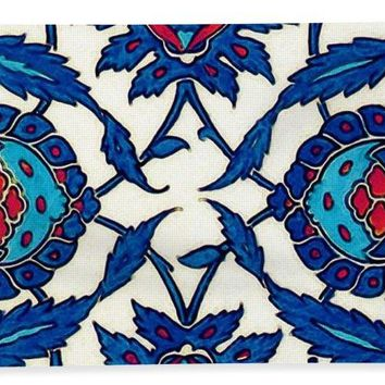 An Ottoman Iznik Style Floral Design Pottery Polychrome, By Adam Asar, No 34a - Bath Towel