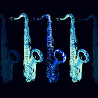 Blues Sax Art Print by Derek Fleener