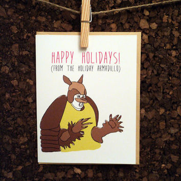 Friends TV Show Holiday Armadillo Funny Christmas Hanukkah Card