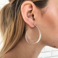 High Rank Hoop Earrings in Silver