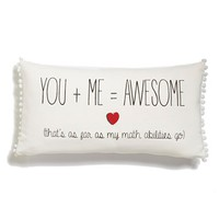Levtex 'You + Me = Awesome' Accent Pillow - Beige