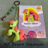 MOD PV Charm Beads Heart charm and Peachy Sweet My Little Pony Toy