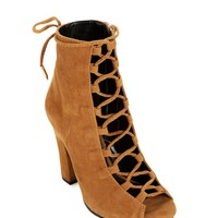 Tan Middle Lace Booties