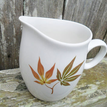 Mid Century Franciscan Creamer Maple Leaf Nice Twice Pattern
