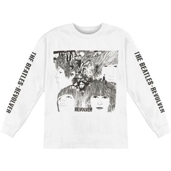 Beatles Men's  Revolver  Long Sleeve White Rockabilia