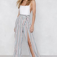 Stripe You Are Slit Pants