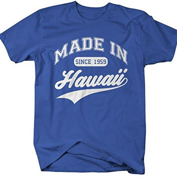 Shirts By Sarah Men's Made In Hawaii T-Shirt Since 1959 State Pride Shirts