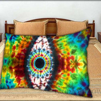 """Tie Dye the Evil Eye Art - 20 """" x 30 """" inch,Pillow Case and Pillow Cover."""