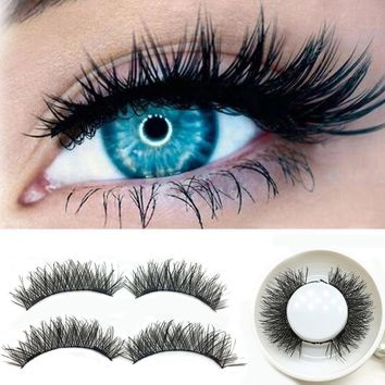 1 Pair Double Magnetic False Eyelashes