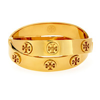 Metal Logo Double-Wrap Bracelet - Tory Burch