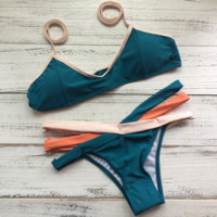 Dark Green Bikini Set for Women