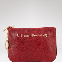 "Rebecca Minkoff ""I Heart Boys, Shoes & Bags"" Pouch - Handbags - Bloomingdales.com"