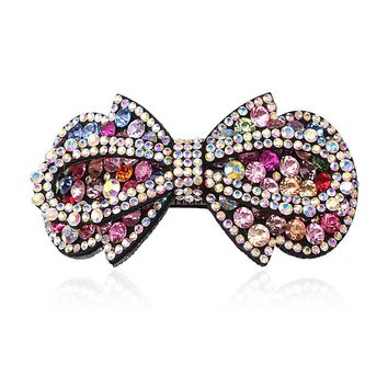 M MISM Fashion Women Hair Clip Girls Shiny Crystal Rhinestone Bowknot Barrette Hair Accessories Colorful Beads Shaped Hairpins