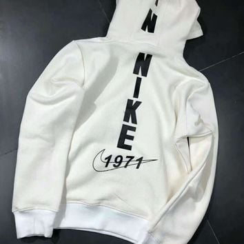 Nike 1971 High Quality Fashion Casual Long Sleeve Pullover Hoodie Sweater Grey G-A-HRWM-1