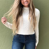 Rock With Me Sweater- Cream