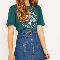 Triathlon Cropped T-shirt - Urban Outfitters