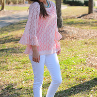 Eye On You Blouse, Pink