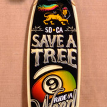 """SECTOR 9 38.5"""" R.A.W. BAMBOO LONGBOARD COMPLETE"""