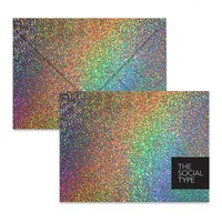 Gold Glitter Hologram Envelope Set - The Social Type