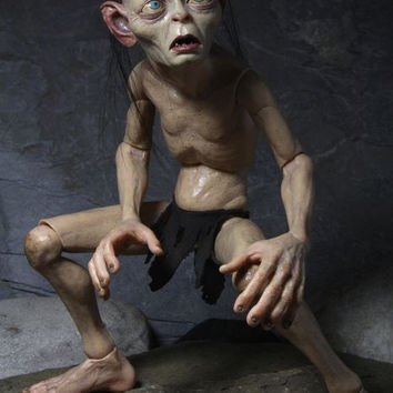 Action Figure Lord of the Rings 1: 4 Gollum Smeagol Movable dolls Hobbit Toy Collectible